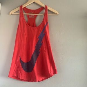 XS Nike pink and blue running tank
